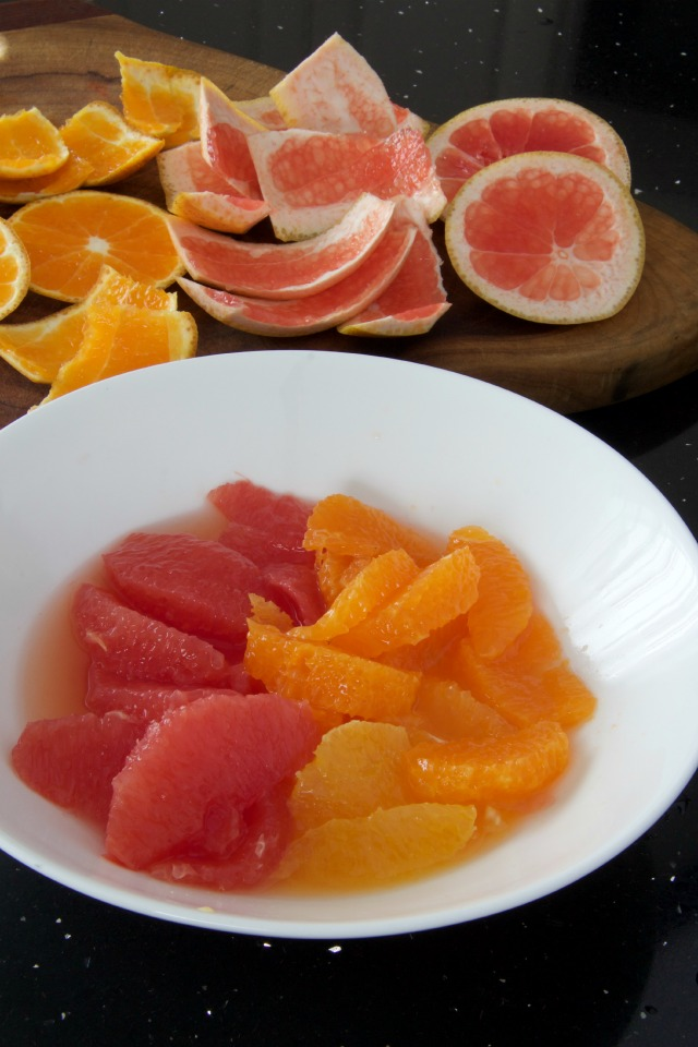 orange & grapefruit slices