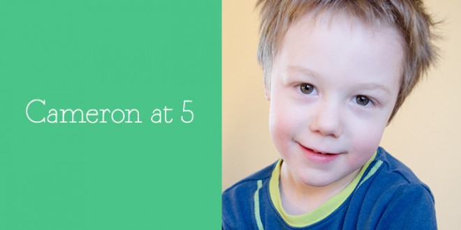 Cameron at 5 | Birthday Questions | Mommy-Miracles.com