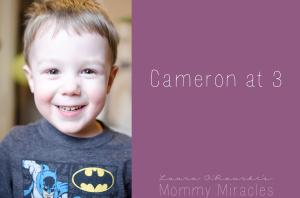 Cameron at 3