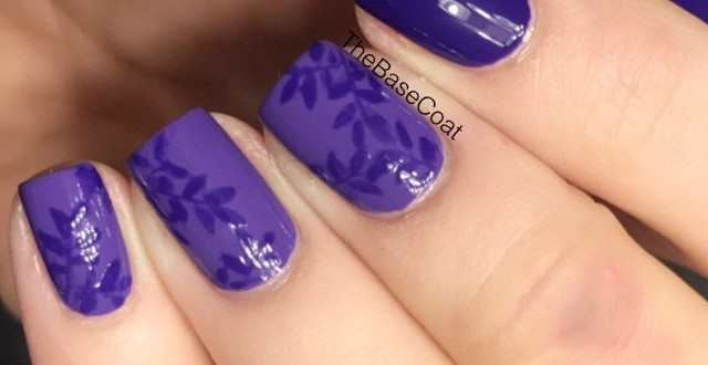 Purple leaves! I created this look with OPI Lost My Bikini in Molokini & OPI Do You Have This Color In Stockholm?