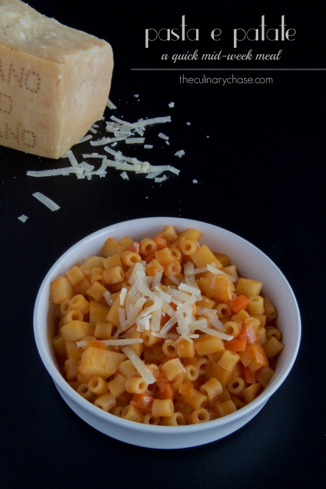 Pasta e Patate - a quick midweek meal