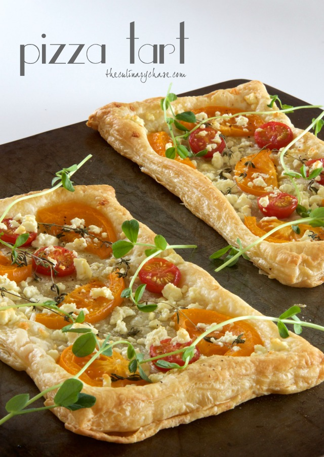 pizza tart by The Culinary Chase
