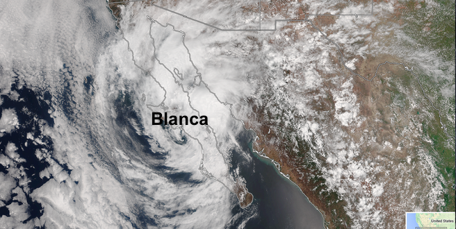 Post tropical cyclone Blanca