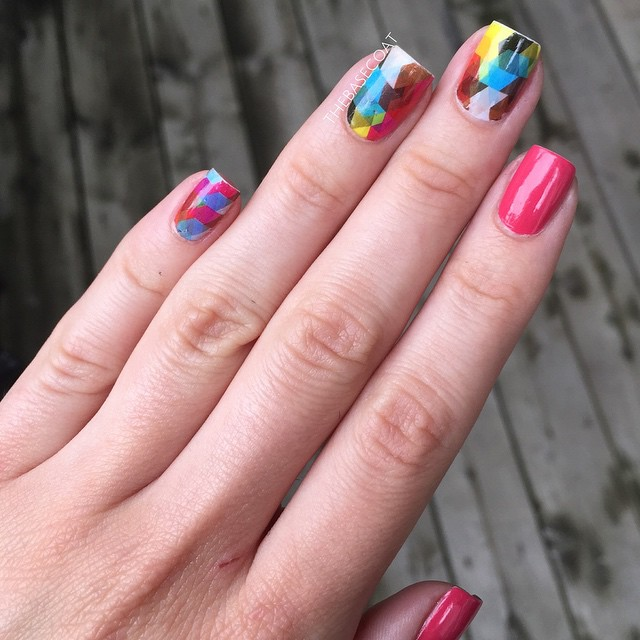 Loving these Geo Pattern Nail Art Water Decals (product # 20572) from Born Pretty! They are really easy to use and quickly transform your manicure. Use my discount code to get 10% off your purchase!