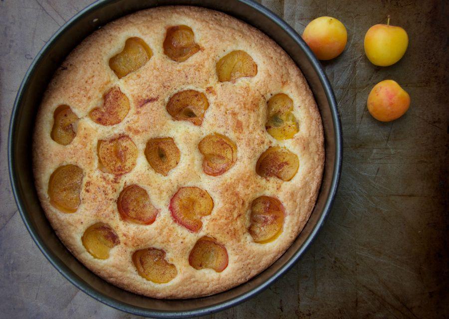baked plum torte