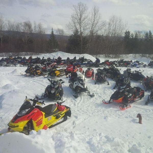 Snowmobiles.