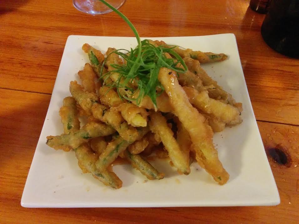 Wild Caraway tempura beans 2