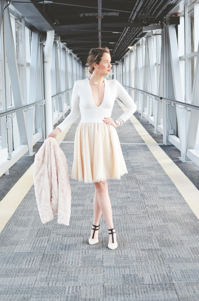 monochrome looks, winter white, tulle skirts