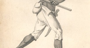 An engraving of Leonard Parkinson, a captain of the Maroons (credit: Nova Scotia Archives)