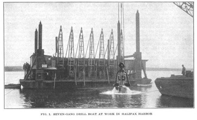 Constructing the Halifax Ocean Terminals.