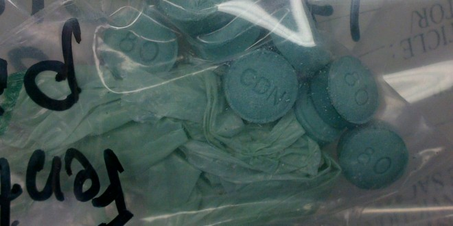 dark green fake oxycodone laced with fentanyl