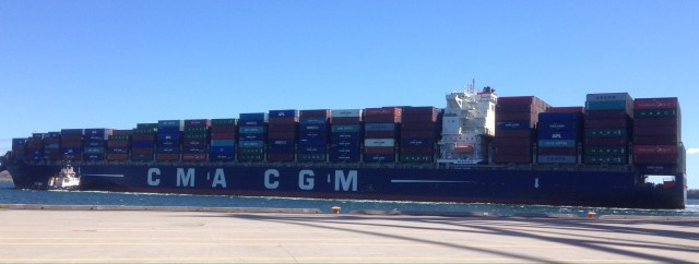 CMA-CGM Almaviva on the Columbus Loop