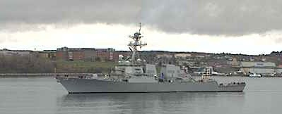 Visit Today of US Navy Vessel