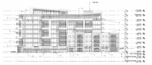 Proposed 9-story development on Prince Albert Road. and Glenwood Avenue.