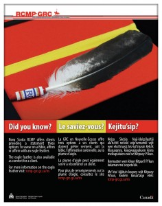 RCMPNS Eagle feather poster