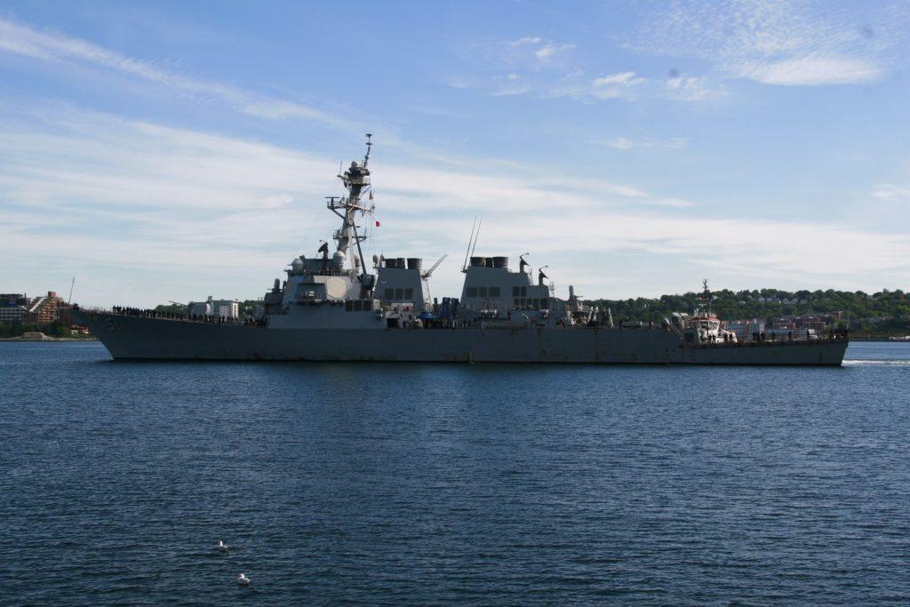 USS ARLEIGH BURKE Arrives.