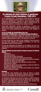 Remembering Cst. Frank Deschênes_Fr