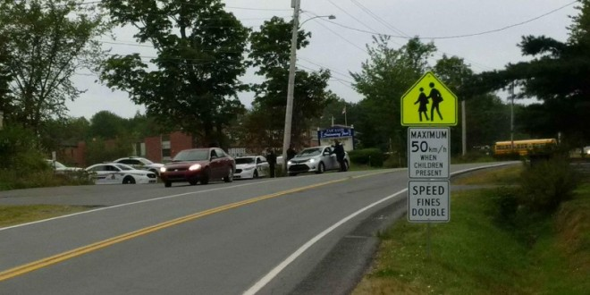 school zone safety violators_East Hants_Highway 2 on the North side of Hants East Rural High school_2018-09-13 resized