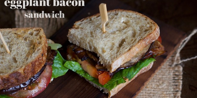 BLT sandwich (brinjal, lettuce, tomato)