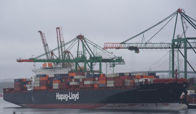 BREAKING: Fire on Halifax Bound Ship.