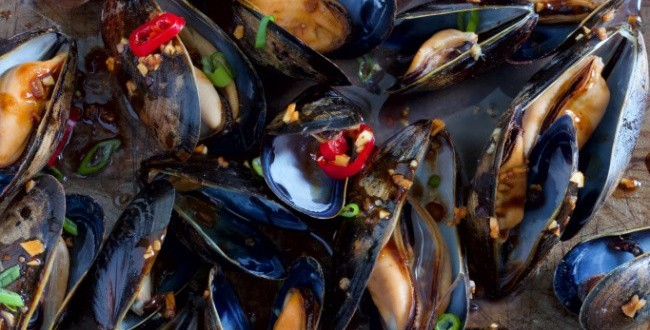 mussels-with-black-bean-garlic-sauce