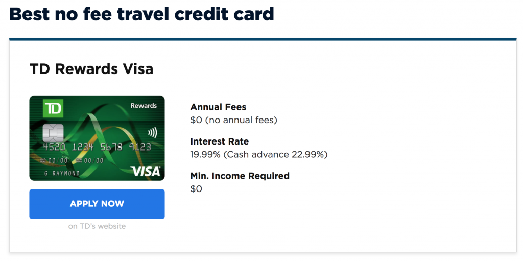 Best Travel Credit Cards In Canada For 2019   haligonia ca